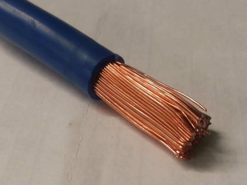 Кабель силовой 25 мм2 синий (медь)